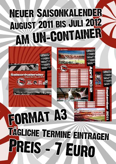 Saisonkalender 2011/2012