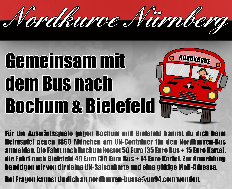 Nordkurven-Bus nach Bochum und Bielefeld