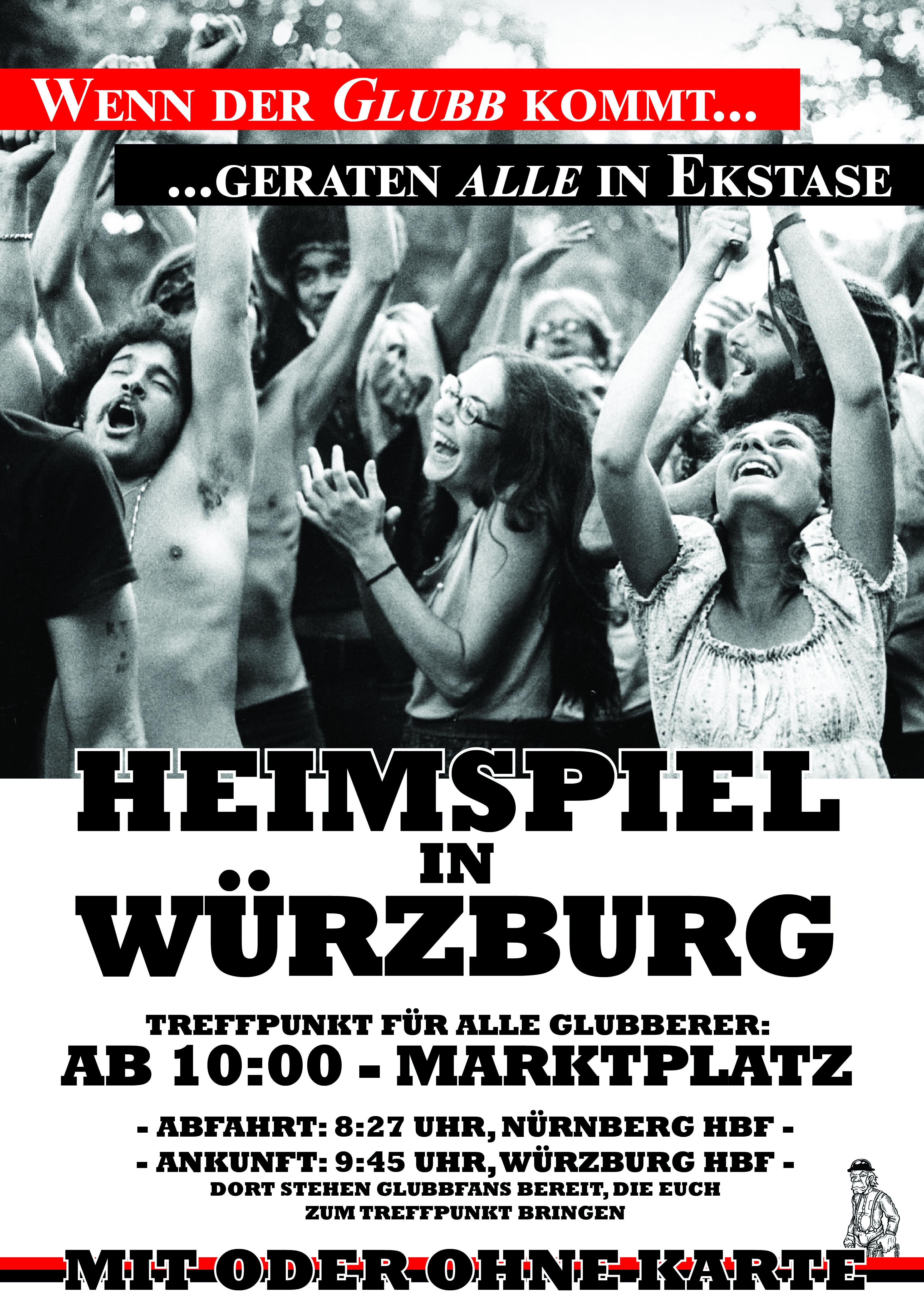 Heimspiel in Würzburg Zugzeiten